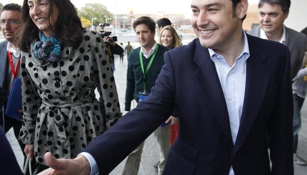 El candidato a la presidencia del PP-A, Juan Manuel Moreno