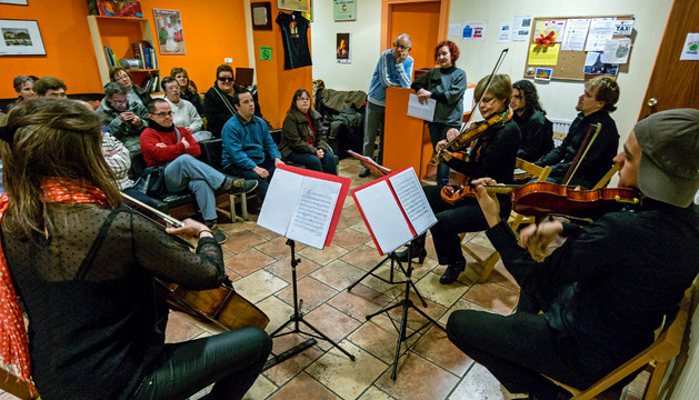 La sede de Anfas acogió un concierto de cuerda