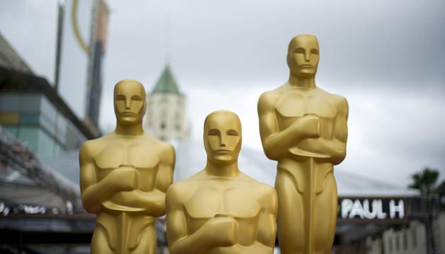 Fotografía de parte de la decoración final para la 86 entrega de los premios Oscar.