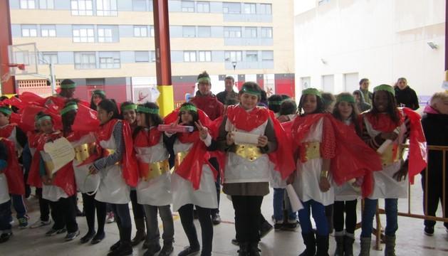 Estudiantes del C.P. Rochapea