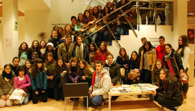 Alumnos y profesores participantes en el Programa Comenius, juntos en Corella