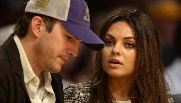 La pareja, Ashton Kutcher y Mila Kunis