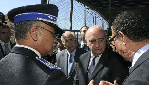 Fernández Díaz, junto al presidente de Melilla, Juan José Imbroda.