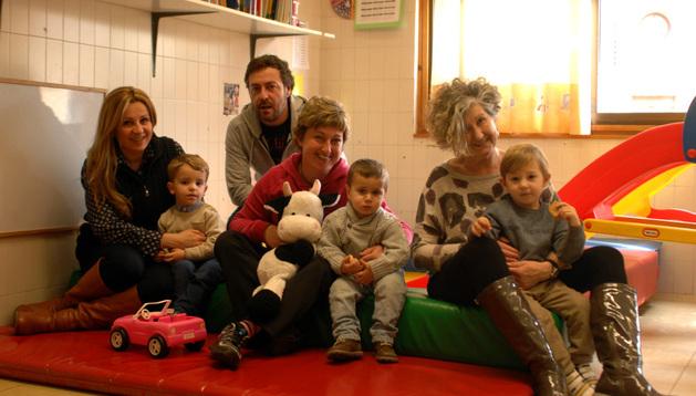Familias usuarias del servicio de guardería de Olite