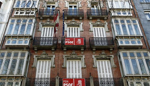 Sede del PSN en Pamplona.
