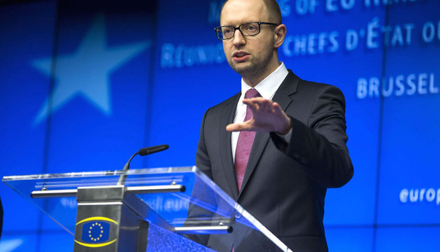 Yatseniuk, tras asistir a la Cumbre extraordinaria UE/Ucrania de Jefes de Estado