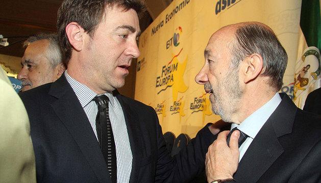 Jiménez y Rubalcaba, en 2012.