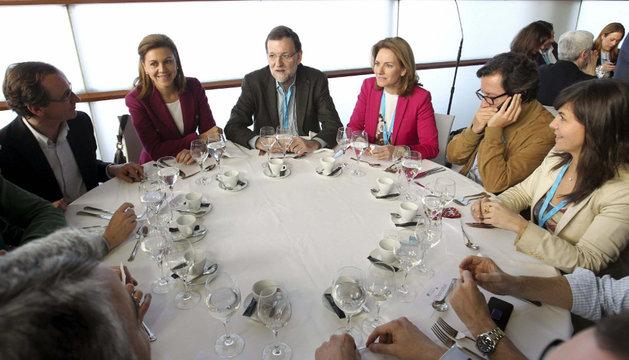 Quiroga, junto a Rajoy, este sábado