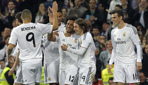 Celebración del segundo gol del Real Madrid