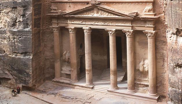 Imagen de la entrada de la ciudad de Petra