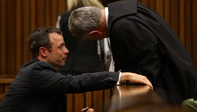 Oscar Pistorius, durante su juicio por el presunto asesinato de su novia