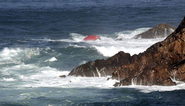 Naufragio frente a la costa asturiana