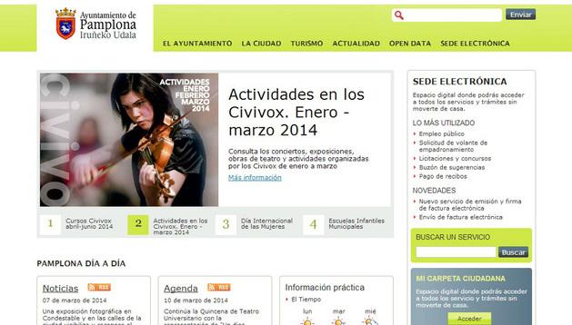 Página web del Ayuntamiento de Pamplona.