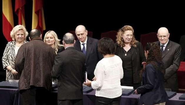 Acto de entrega de las condecoraciones a las víctimas del 11M