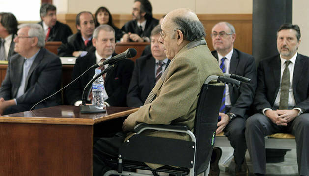 Millet, durante el juicio.