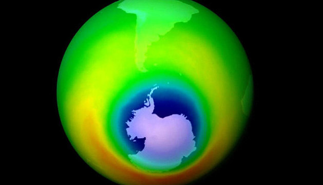 La capa de ozono, en 1999.