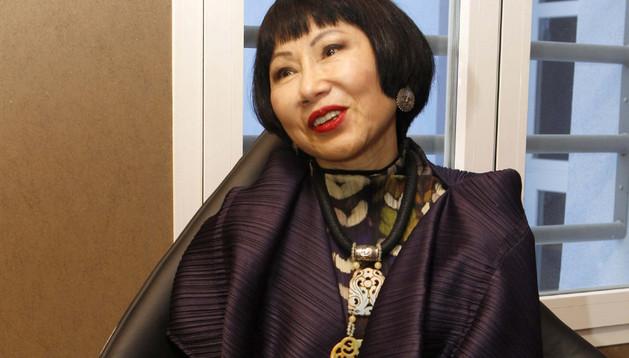 La escritora Amy Tan