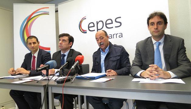 Francisco Javier Cortajarena, José María Martínez, Ignacio Ugalde y Ricardo Goñi,