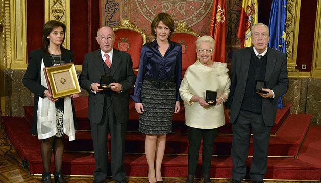 De izquierda a derecha González, Ruiz de Erenchun, Barcina, Jiménez y Muneta.