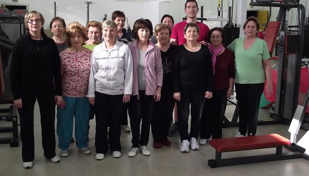 Las participantes en la clase de gimnasia de musculación