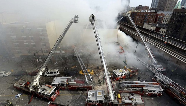 Explosión en un edificio de Nueva York