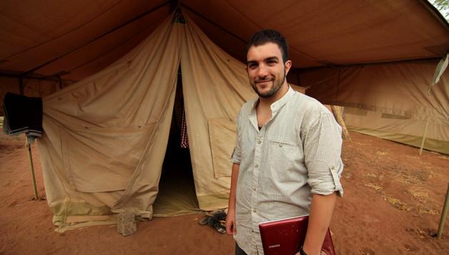 Daniel Burgui, en el recinto del ACNUR en la frontera keniano-somalí.