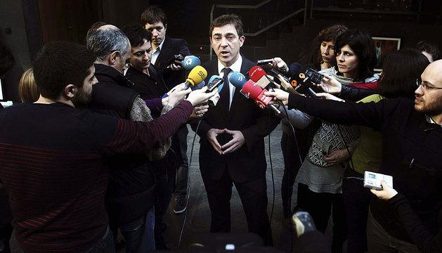 Roberto Jiménez, en el Parlamento.