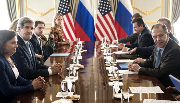 Reunión de John Kerry y Sergey Lavrov en Londres