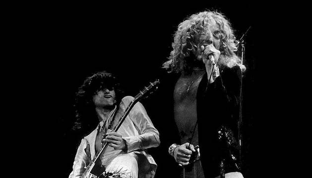 Jimmy Page y Robert Plant, de Led Zeppelin.