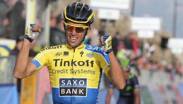Alberto Contador gana la etapa reina de la Tirreno-Adriático
