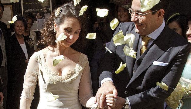 La juez Alaya y su marido, en Sevilla.