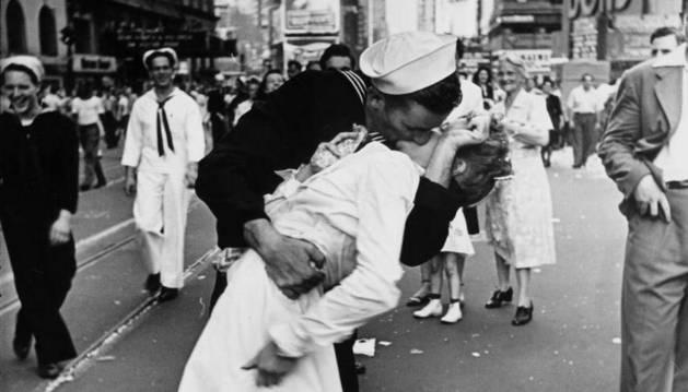 El beso icónico de Times Square