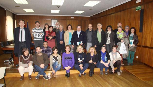 Miembros de los colectivos e instituciones que participan en el pacto de conciliación de Estella