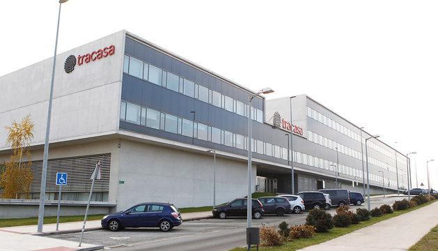 La sede de la empresa pública Tracasa, en Sarriguren.