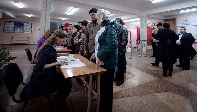 Un colegio electoral en Simferopol