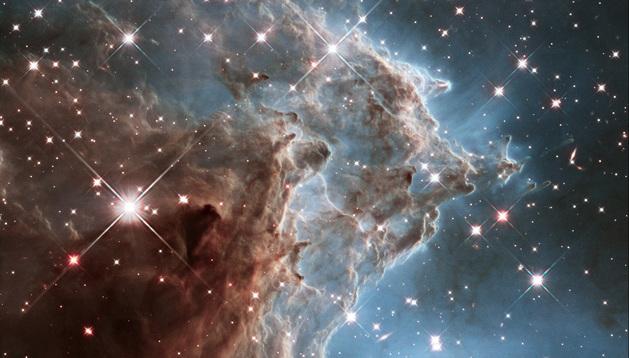 Imagen del telescopio Hubble de la Nasa donde se ve la 'Nebulosa Cabeza de Mono'