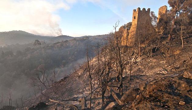 Incendio en Empordà, Girona