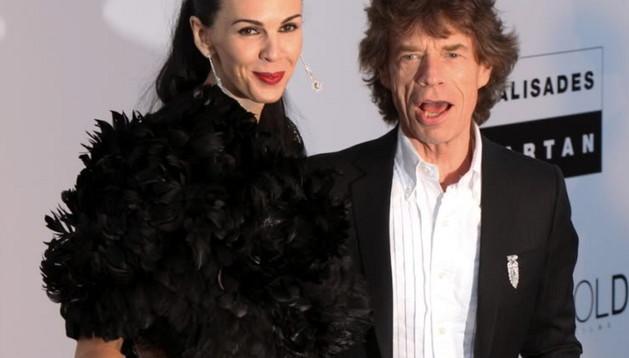 L'Wren Scott junto a Mick Jagger