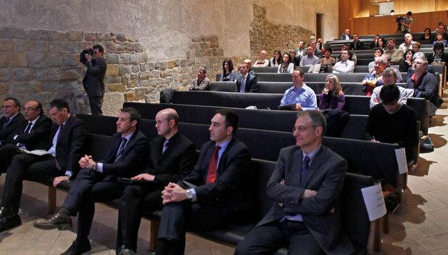 Asistentes a la presentación de la nueva convocatoria