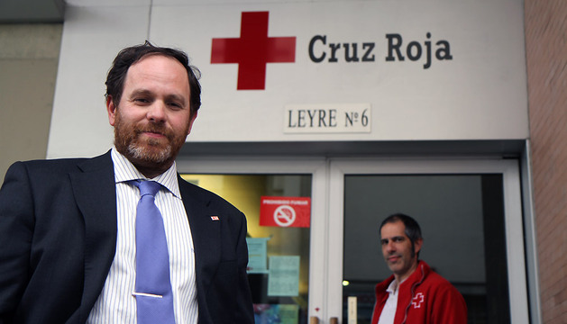 Mikel Martinez, presidente del comité local de Cruz Roja en Pamplona.