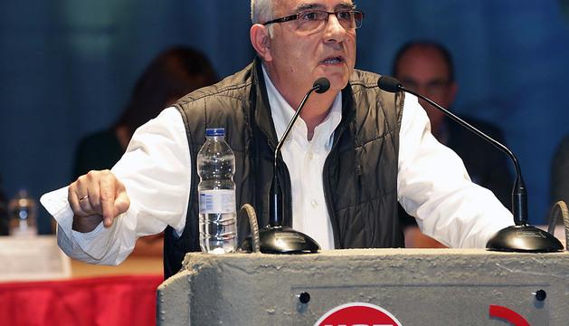 Juan Goyen, durante el congreso de la Federación de Metal, Construcción y Afines de UGT del pasado enero.