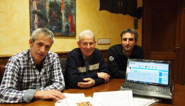 Desde la izda.: Pedro Rípodas Zarranz, Josetxo Paternáin Nagore y Mikel Villanueva Erdozáin