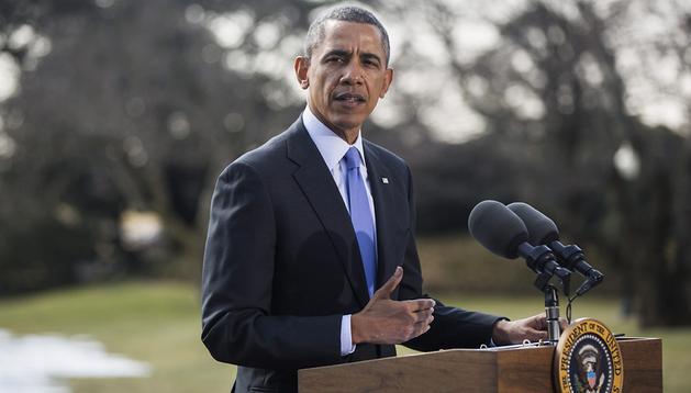 El presidente de Estados Unidos, Barack Obama, durante una rueda de prensa en la Casa Blanca, Washington DC,