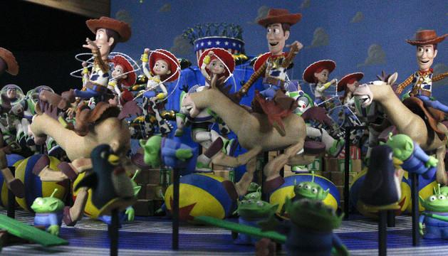 Algunas de las más de cuatrocientas piezas pertenecientes a la exposición de Pixar
