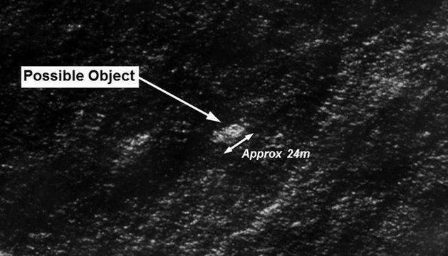 Imagen de los posibles restos del avión malayo.