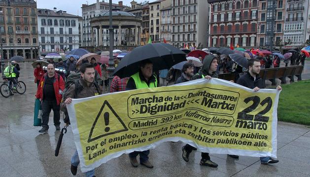Una 'Marcha de la Dignidad' celebrada el pasado 1 de marzo en Pamplona.