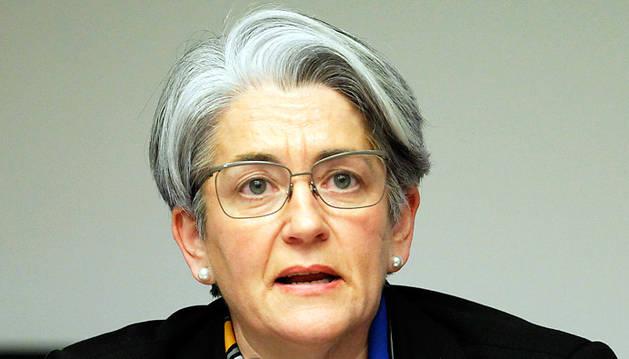 Lourdes Goicoechea, durante la pasada comisión de investigación