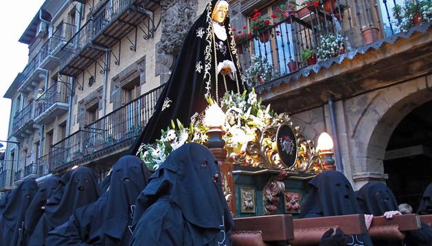 La Dolorosa, en la procesión del Santo Entierro del año pasado