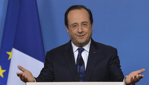 El presidente francés, François Hollande, durante una rueda de prensa este viernes.