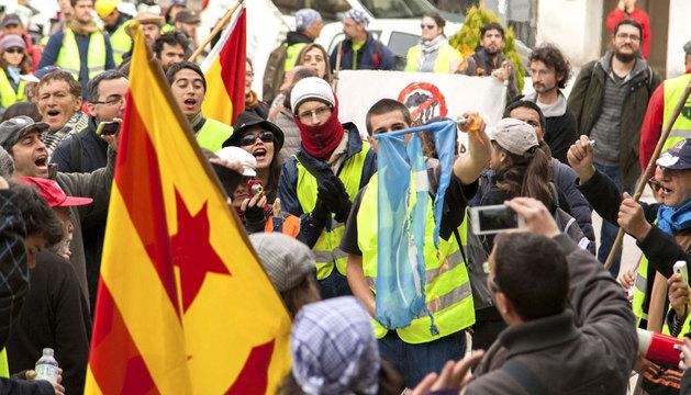 Una de las Marchas de la Dignidad llegando a Madrid